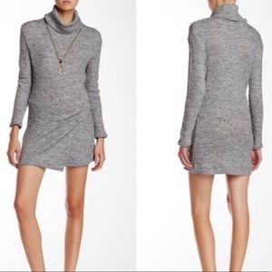 Free People By The Fire Gray Sweater Dress